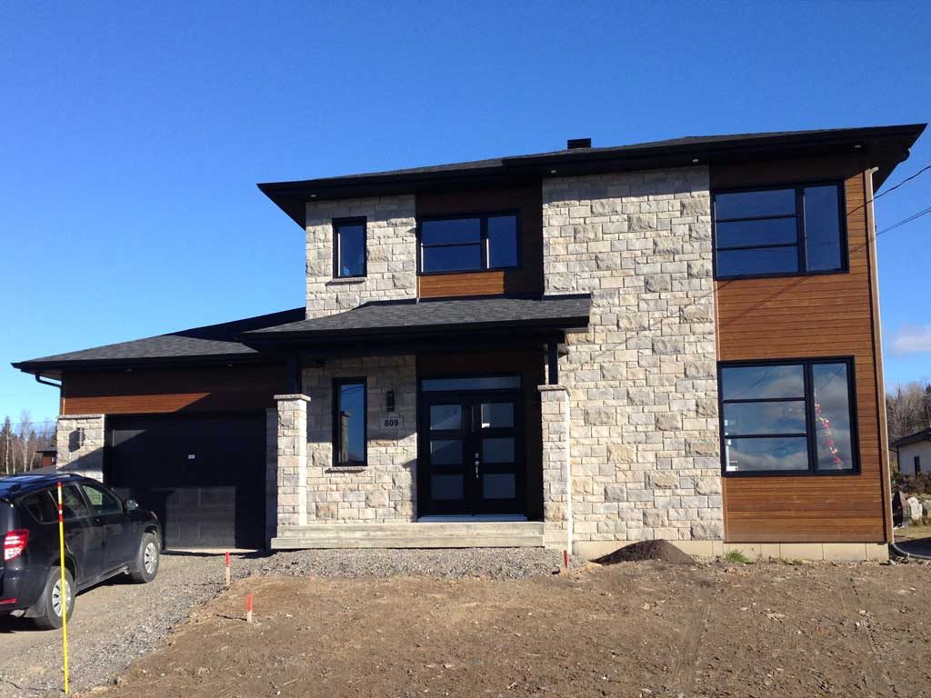 garage bois briques