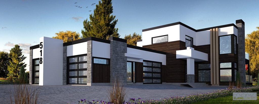 Plan de maison de luxe